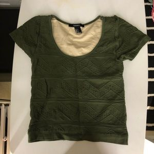 Forever 21 - Olive Green Crop Top